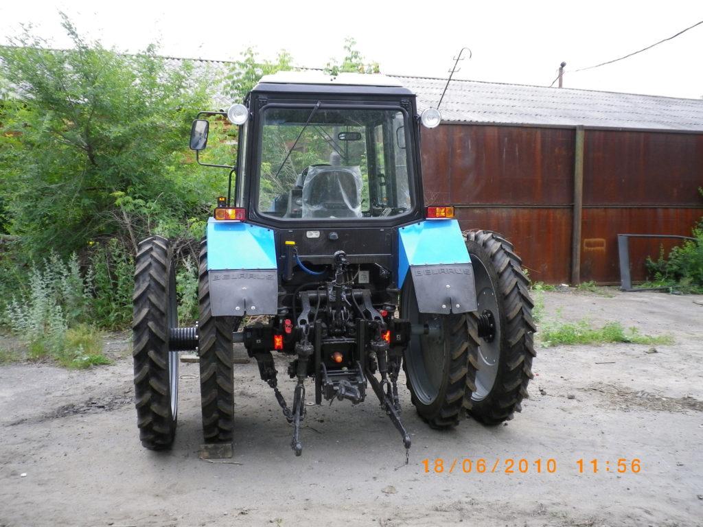 Спаренные колеса на трактор 04.09.2015 - YouTube